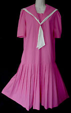 VINTAGE LAURA ASHLEY 1920s GATSBY FLAPPER STYLE SAILOR SUMMER DAY DRESS, 12/14