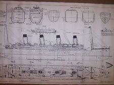 TITANIC SHIP PLAN  ocean liner