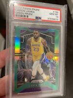 2019 Panini Prizm Lebron James Green Prizm PSA GEM MT 10 LAKERS #129