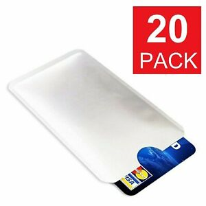 20pcs Credit Card Protector Secure Sleeves RFID Blocking ID Holder Case Shield