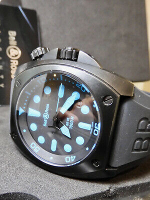 Bell Ross Diver Limited Edition Blue RASRE w/ full box papers Set, BR02-92