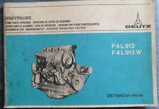 Deutz Schlepper F4L 912 , F4L 912 W Motor-Ersatzteilliste