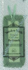 Bookmark to Cross Stitch Sage Green 18 Count Aida With Lace Blank OOP