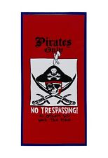 Wholesale Lot of 6 Pirates Only No Trespassing All Others Will. Bumper Sticker