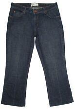 Levi Strauss Womens Jeans Low Rise Boot Cut Stretch Dark Denim Hemmed Size 12 M