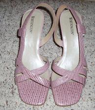 *Sexy* WORTHINGTON 'Kelli' Leather Slingback High Heels~Pink~Size 9 M