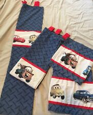 "Disney Pixar Cars Tab Top Curtain Panels 52""Lx42""W & Valances 55""x15"""