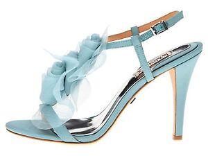 Badgley Mischka Cissy wedding bridal sandals Heels shoes Nile Blue NEW in BOX