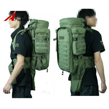 Molle Airsoft Tactical Extended Full Gear Dual Rifle Gun Backpack Hunting Bag OD