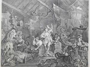 """.""""William Hogarth"""" Strolling Actresses Dressing in a Barn Heath ed"""
