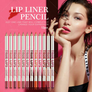 MeNow True Lips 12 Colors Set Lip Liner Pencil Waterproof Matte Nude Lip Makeup