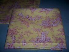 P Kaufmann Tablecloth &8 Napkins RED YELLOW  Country Life Pastoral Toile Cotton