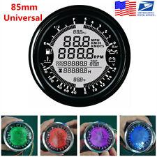 6in1 Multi-Function GPS Speedometer Tachometer Gauge Water Temp/Volt Meter 85mm