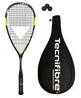 Tecnifibre Carboflex 125 Heritage Squash Racket + 3 Dunlop Squash Balls RRP £165