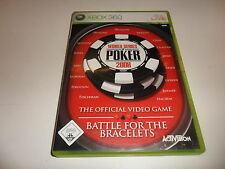 XBox 360  World Series of Poker 2008 - Battle for the Bracelets