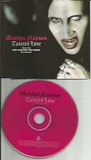 MARILYN MANSON Tainted love w/ UNRELEASED TRK & MUSE Please CD Single USA seller