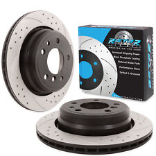 REAR DRILLED GROOVED 298mm BRAKE DISCS FOR BMW 5 SERIES E39 540i 530d 528i 535i