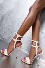 1969 Pumps 13 cm 43 42 beige nude patent leather leder fetish sandals high heels