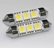 2pcs White 36mm LED Festoon light bulb C5W 6411 6418 6461 6486 DE3423 DE3425