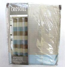 Croscill Fairfax Stripe Fabric Shower Curtain 72 in x 72 in - Multicolor