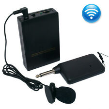 Mic Transmitter Set Mini Wireless Cordless Clip-on Lapel Tie Microphone