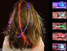 LED HAIR EXTENSIONS BRAIDS RED GREEN WHITE BLUE MULTI-COLOUR