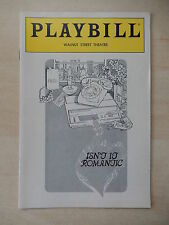 November 1985 - Walnut Street Theatre Playbill - Isn't It Romantic - Lynn Cohen