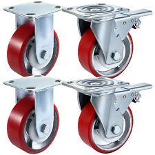 5 X 2 Polyurethane 2 Rigid Amp 2 Swivel Casters Flexibly Polyurethane Stability