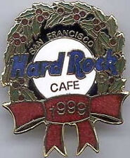 Hard Rock Cafe SAN FRANCISCO 1999 CHRISTMAS PIN Wreath with RED Ribbon HRC #8463