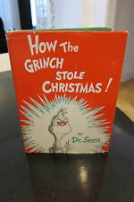 Dr. Seuss How The Grinch Stole Christmas! True First Edition 1957 w/DJ