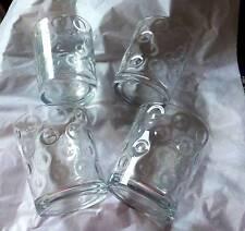 GLASSES QUALITY GLASSES X  FOUR  WHISKY/SQUASH OR SPIRITS LOVELY DESIGN.