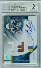 2011 Absolute Vincent Brown Spectrum AFC Prime Auto 3 Clr Patch Rc # to 25 BGS 9