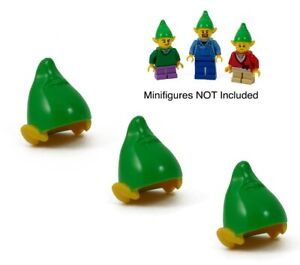 ☀️NEW LEGO Elf hats x3 - Turn 3 figures into a Christmas Elf - Pack of 3 - Elves