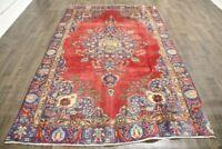 Persian Traditional Vintage Wool  5.9 X 9.4 Oriental Rug Handmade Carpet Rugs