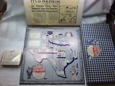 Texas Politicos Game Original Twine And Tag Never Played! Vintage 1979