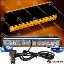 13 inch 72W LED Amber Yellow Light Construction Warning Strobe Bar Roof Magnet