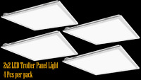 4-PACK 2x2FT Led panel light 35W 5000K Dimmable UL DLC certified troffer lamp