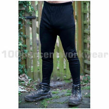 Size MEDIUM Warrior 0118TLBL Mens Black Thermal Long Johns Underwear Base Layer