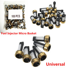 100x Universal Fuel Injector Micro Basket Filter for ASNU03C Injector Repair Kit