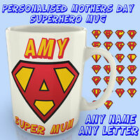 Personalised Superhero Mug - Mothers day Home Gift Mum