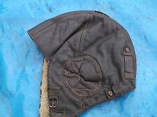ww2 raf german leather flying helmet furr lining size large  verry nice