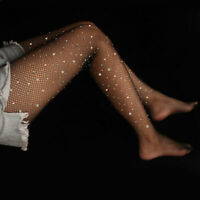 Women Bling Net Rhinestone Women Crystal Sexy Stockings Bling Mesh Socks Fishnet