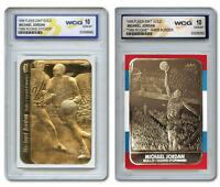 (2) MICHAEL JORDAN CHICAGO BULLS 1986 FLEER WCG GEM MT-10 ROOKIE CARD LOT!
