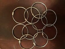 Large Metal Loose Leaf Rings, Binder Keyrings, 3 inches, 10 Rings each lot