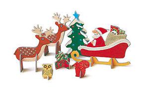 *ROGER LA BORDE*Weihnachten*Kinder*3D*Creativ Set*Pop&Slot*Santa mit Schlitten*