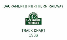 Sacramento Northern System Track Chart 1966 Diagram Profile SNRR