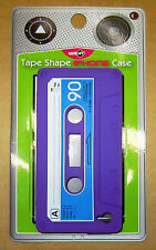 cassette tape soft silicone cover for apple  IPhone 4 4s Ca Purple x 2 (Item 38)