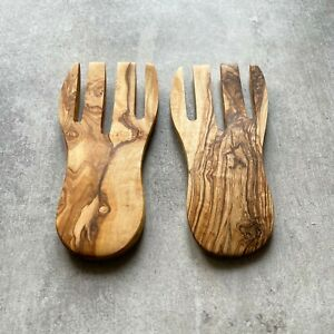 Traditional Olive Wood Salad Hands - Sustainably Sourced
