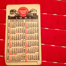 Vintage 1961 MISSOURI PACIFIC RAILROAD POCKET CALENDAR