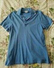 Lacoste sky blue with white trim polo size 5